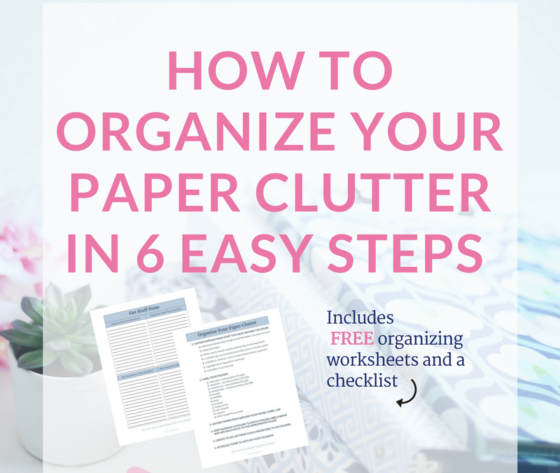 Overwhelmed by Paper Clutter? Try This!